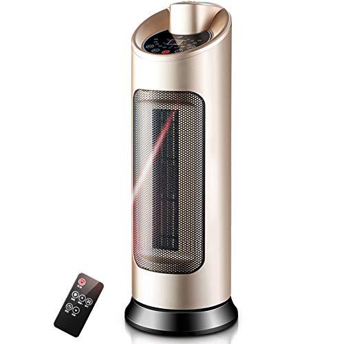 ORDK-Mini-Elctrico-Calefactor-Cermica-Oscilante-Calefactor-Porttil-Mando-a-Distancia-Ventilador-para-Baos-y-oficinas-Dorado