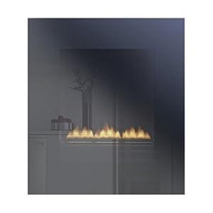 Oxford Wall Hung Flueless Gas Fire - Black