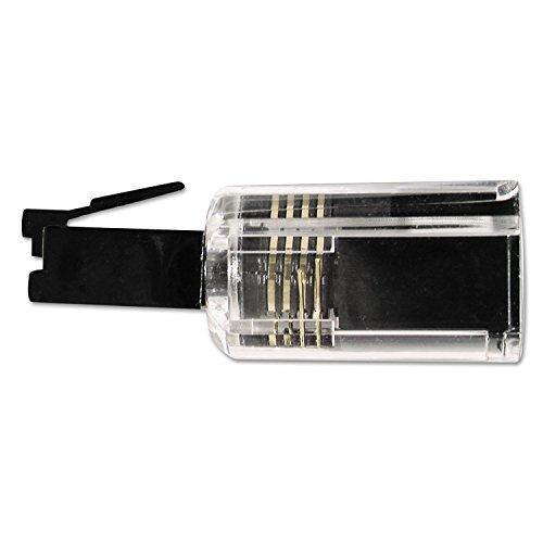 Softalk Rotating 360 Telephone Cord Detangler, Clear/Black by Softalk Cord Detangler