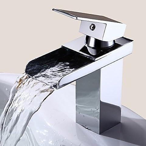 JHS Rubinetto,Lavandino rubinetto del bagno in stile moderno singola maniglia