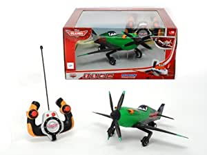 Dickie Spielzeug 203089805 - RC Disney Planes, Driving Plane Ripslinger, 2-Kanal Funkfernsteuerung, grün
