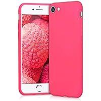 kwmobile Apple iPhone 7/8 Cover - Custodia per Apple iPhone 7/8 in Silicone TPU - Backcover Protezione Rosa Shocking