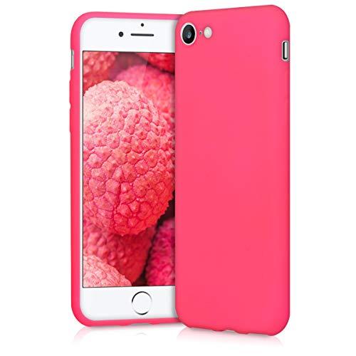 kwmobile Apple iPhone 7/8 Hülle - Handyhülle für Apple iPhone 7/8 - Handy Case in Neon Pink