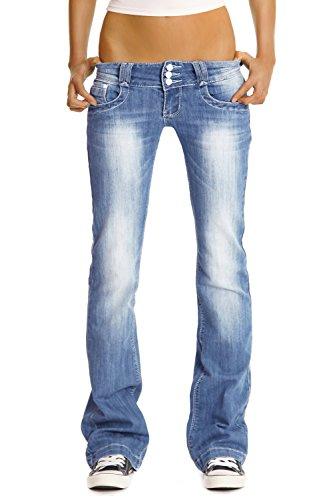 Bestyledberlin Damen Jeanshosen, Hüftjeans, Bootcutjeans j97y 42/XL (Designer-jeans Italienische)