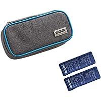 insulina nevera para diabéticos funda para medicamentos Bolsa Térmica 2unidades para insulina, color azul