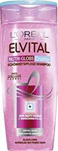 L'Oréal Paris Elvital Nutri-Gloss Crystal Shampoo, 3er Pack (3 x 250 ml)