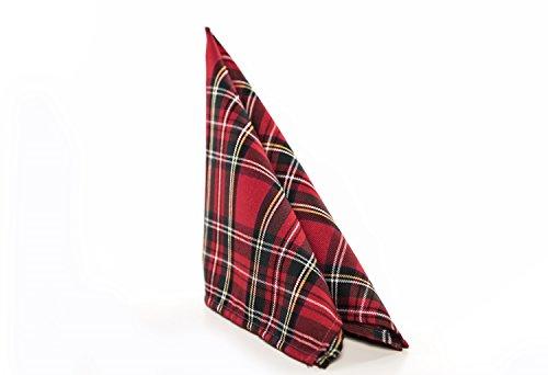 Tischdecke,Mitteldecke,Tischläufer,Serviette,Schottenkaro,Weihnachten 50 x 50 cm rot (Servietten Weihnachts-tischdecken Und)