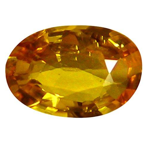0,65ct AAA Oval Form (7x 5mm) orange gelb Ceylon Saphir natur lose Edelstein