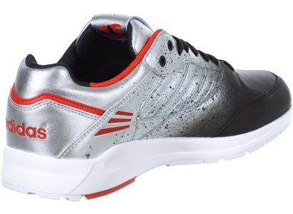 adidas Tech Super, Baskets mode femme argent noir rouge