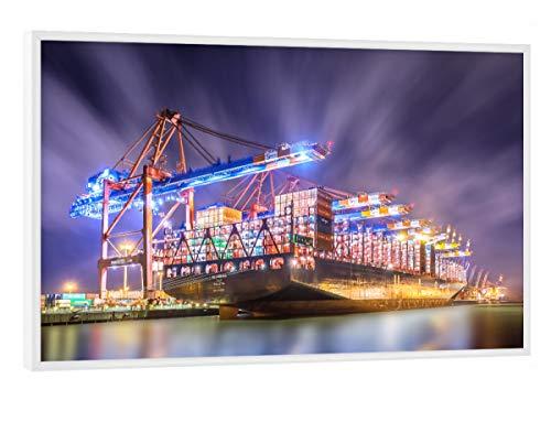 artboxONE Poster mit weißem Rahmen 30x20 cm Al Zubara von Künstler Jan Hartmann - Poster mit Kunststoffrahmen