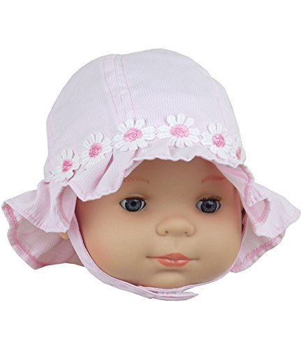 BabyPrem Baby Mädchen Mütze Daisy-Chain Eimer Hut Rosa 62-68cm (Baby-hüte Daisy)