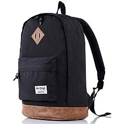 Mochila escolares HotStyle 936 Plus de 26 Liters – Con espacio para portátiles de hasta 15,6 pulgadas - Negro