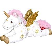 Einhorn Paradies Suave Peluche para Acariciar y Abrazar Unicornio Sol Suria con Alas Doradas y Brillante