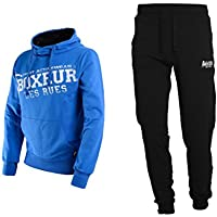 BOXEUR DES RUES Fight Activewear, Completo Tuta da Uomo, Royal, L