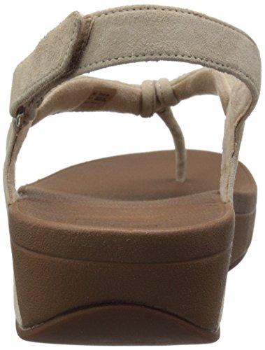 FitFlop Womens Crystal Swirl Suede Sandals Beige