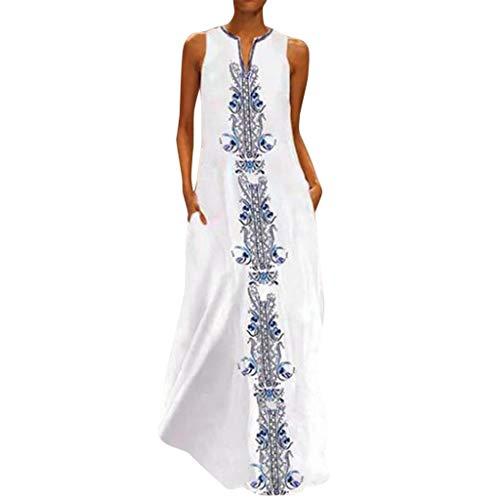 Waver Laternenhülse Minikleid Damen,Reizvolle Frauen Strandkleid Abendkleid Langarmkleid Partykleid Blumenmuster Hochzeitskleid Freizeitkleidung