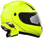 ATO K71 Neon Größe L 59-60cm Flip Up Klapphelm mit