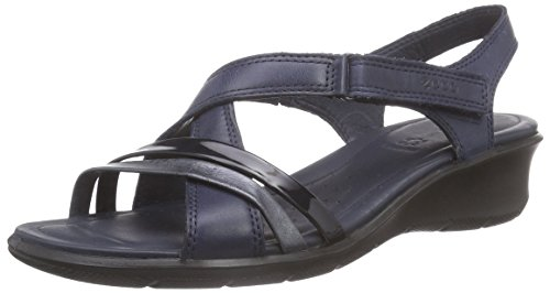 Ecco ECCO FELICIA SANDAL, Damen Slingback Sandalen, Blau (MARINE/BLACK/MARINE51769), 40 EU (7 Damen UK)