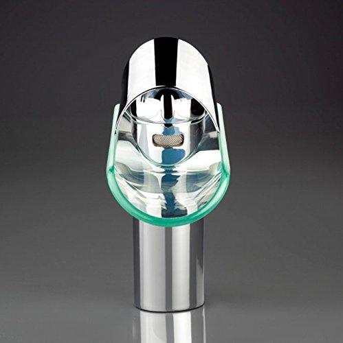 SAILUN Wasserfall Armatur Wasserhahn Glas Spüle Waschbeckenarmatur für Bad Waschtischarmatur Badarmatur Badezimmer Küchen (B Type) -