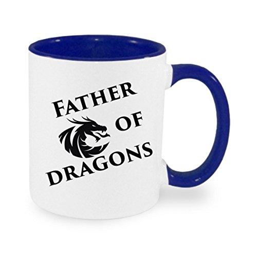 Father of dragons - Kaffeetasse mit Motiv, bedruckte Tasse mit Sprüchen oder Bildern - auch individuelle Gestaltung nach Kundenwunsch (Von Bilder Dragon)