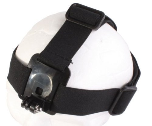 Fotocamera Head Strap Mount fascia supporto per GoPro Hero 1233+ 4/SJCAM SJ4000SJ5000/QUMOX SJ4000/Xiaomi Yi/fotocamera d' azione videocamera