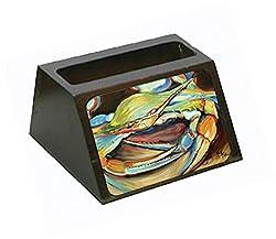 Carolines Treasures Blue Crab Gonna Get You Business Card Holder, Large, Multicolor