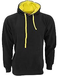 FDM Unisex Kapuzenpullover / Kapuzensweater mit kontrastfarbener Kapuze