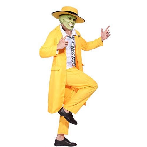 90s Yellow Gangster Zoot Suit The Mask Jim Carrey Costume - two sizes