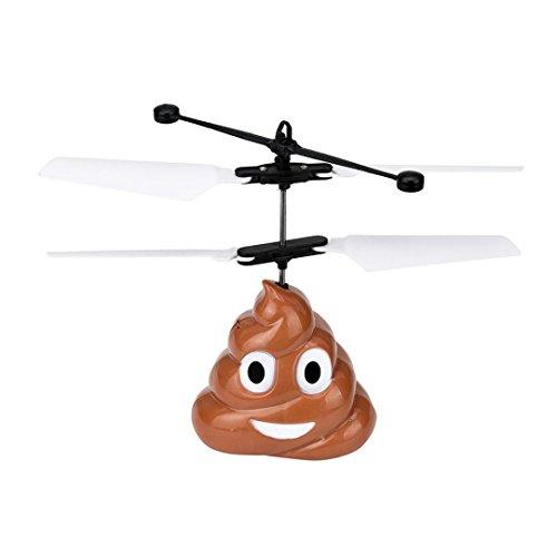 Zarupeng Mano Flying Poop Ball Mini Suspensión de inducción RC Avión Flying Toy Drone (marrón)