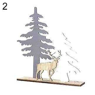 sxsuperbOniu, Adorno de Navidad, Navidad Alce De Madera Adorno De Ciervo Árbol De Navidad Escaparate Ventana De Decoración De Escritorio