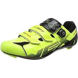 VeloChampion Zapatillas de ciclismo (par) VCX con planta de fibra de carbono Fluoro Yellow/Black 41