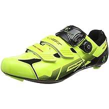 VeloChampion Zapatillas de Ciclismo (par) VCX con Planta de Fibra de Carbono Fluoro Yellow
