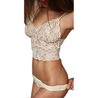 Lingerie,WINWINTOM Donna Sexy Lingerie Pizzo Dress G-String Biancheria Da Notte