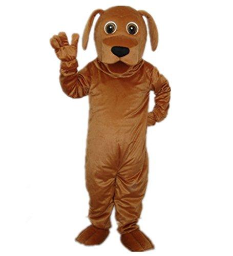 Goldene Hund kostüm Unisex erwachsene größe Lust party - (Tragen Kostüm Hund Paket)