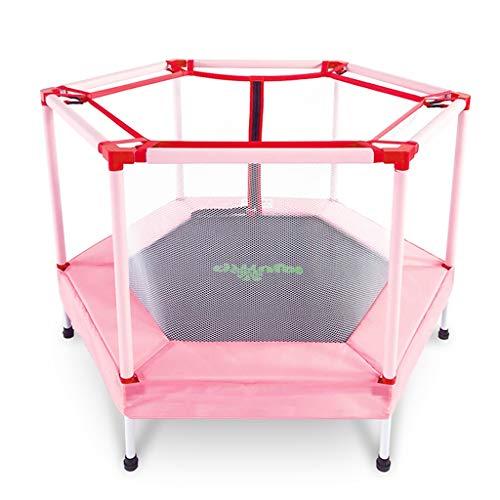 GXY Trampolin Trampolin für den Hausgebrauch Trampolin mit Schutznetz Darf 100 kg tragen (Color : PINK, Size : 122 * 122 * 87CM)