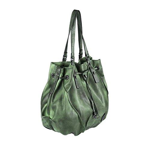 OBC DAMEN XXL TASCHE SHOPPER SCHULTERTASCHE Handtasche Henkeltasche Beuteltasche Damentasche Designer Bag Grau Grün