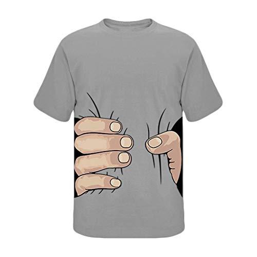 TWISFER Herren T-Shirt | I Got You | Sommer Creative Funny Rundhals-Ausschnitt Kurzarm Muster Drucken T-Shirt Top Bluse