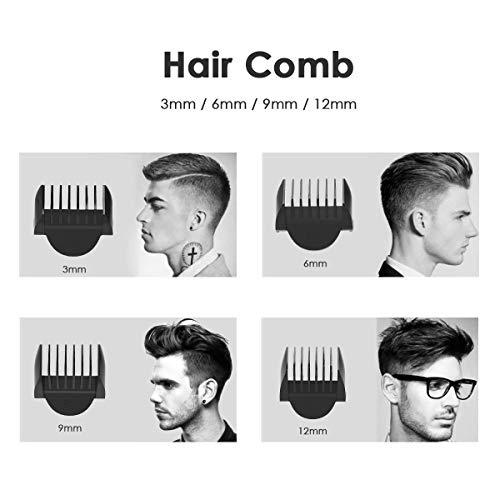 Tagliacapelli, Set di tagliacapelli senza fili, Trimmer per capelli ricaricabile per uomini BROADCARE