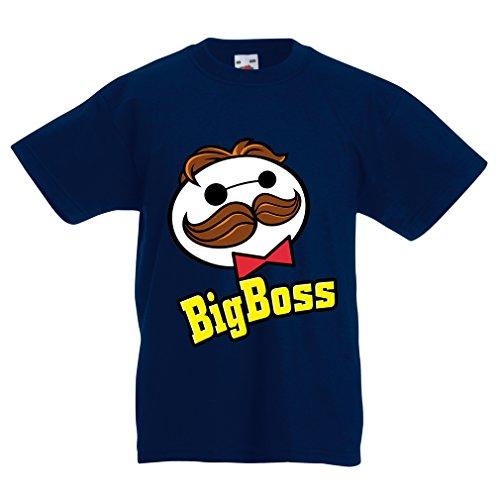 lepni.me Kinder T-Shirt Big Boss (7-8 years Dunkelblau Mehrfarben)