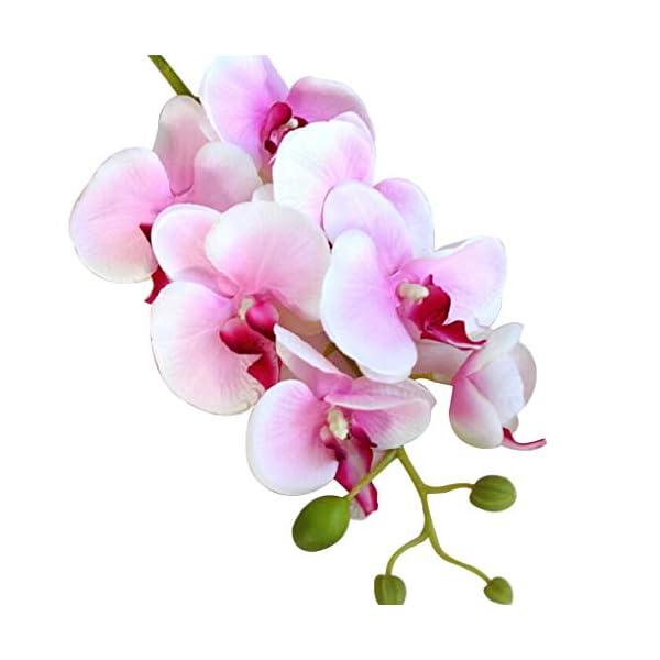 Lafyho Seda Artificial orquídea Phalaenopsis Flor del Tallo del Ramo de la Fiesta en casa decoración de jardín