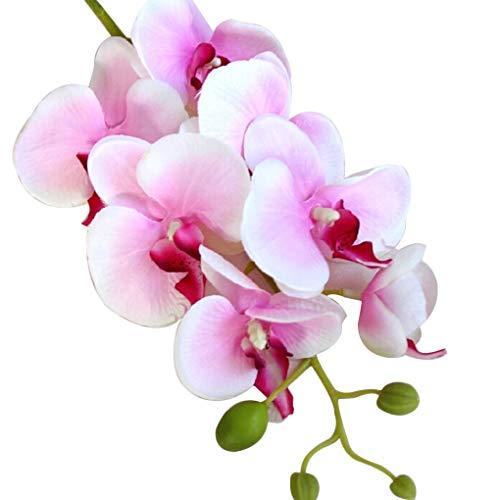 Zerama Silk künstliche Phalaenopsis-Orchideen-Blumen-Stamm-Blumenstrauß-Partei-Hausgarten-Dekor - Partei Für Material Dekore Die