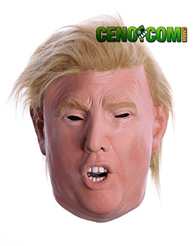 Maschera di Carnevale Donald Trump in Lattice | Costume Testa Realistica Presidente in Latex per Halloween | Unisex Taglia Unica per Adulti