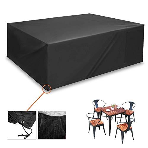 Gartenmöbel Schutzhülle, 200x160x70cm Oxford ,GrillSchutzhülle Abdeckung Sitzgruppe, Gartenmöbel Hülle für Möbel, Tische und Gartenstühle