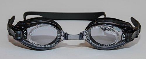 Sports Vision's Occhialini Nuoto Gradazione -3 Adulto Nero Gradazione Positiva e Negativa Filtro UV