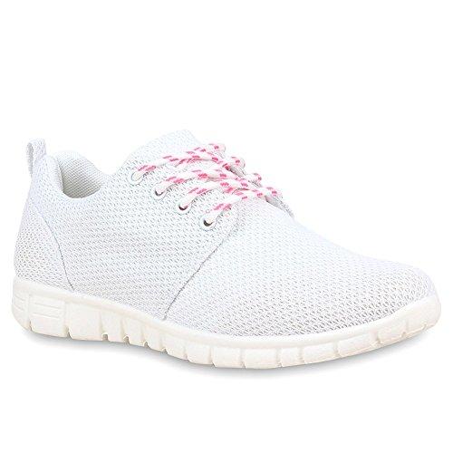 Chaussures de course femme course sport chaussures en plusieurs couleurs, 36 Blanc - Weiß-Weiß