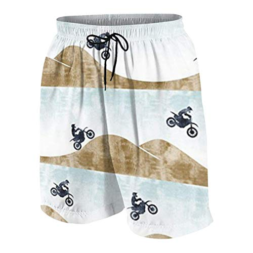 Pillow Socks Motocross Dirt Bike Boys Beach Shorts Quick Dry Beach Swim Trunks Kids Swimsuit Beach Shorts,Active Athletic Performance Shorts L