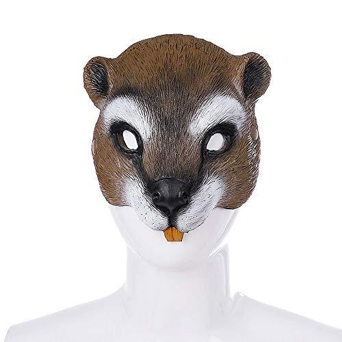 WanTo Halloween Karneval Party Animal Cosplay Leistung Realistische Half Face Gummi Eichhörnchen Maske, Eichhörnchen Maske