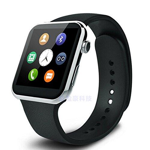 Galleria fotografica Lemumu A99 Accessori speciali Smart Watch , Chiamate vivavoce/Controllo Media/Messaggio di comando/controllo della telecamera per Android &iOS,argento