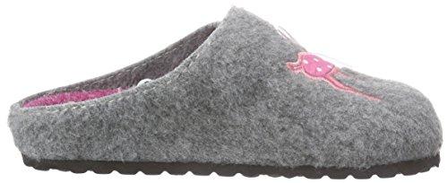 Softwaves 542 126, Pantoufles non doublées fille Gris - Grau (Grey 208)