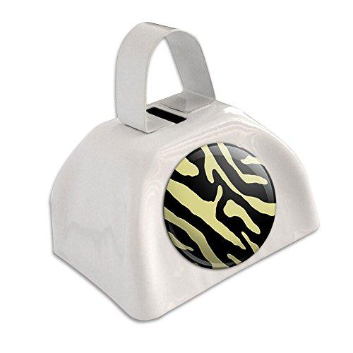 Zebra Print schwarz tan weiß Cowbell Kuhglocke